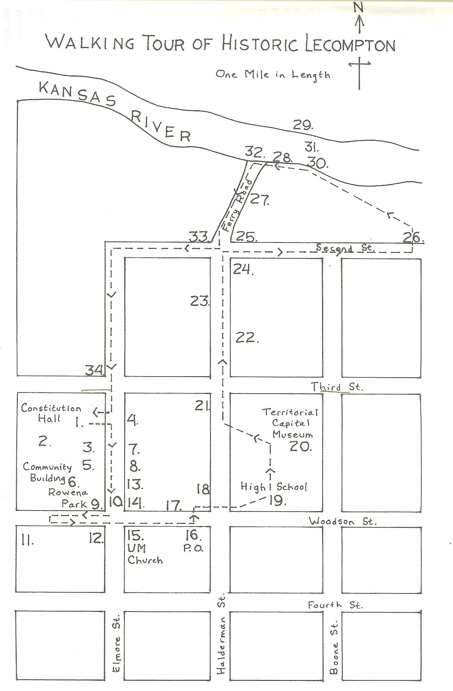 Historic Walking Tour Lecompton Kansas 2nd Judicial Circuit Historical Society Maps Click Here For A Map