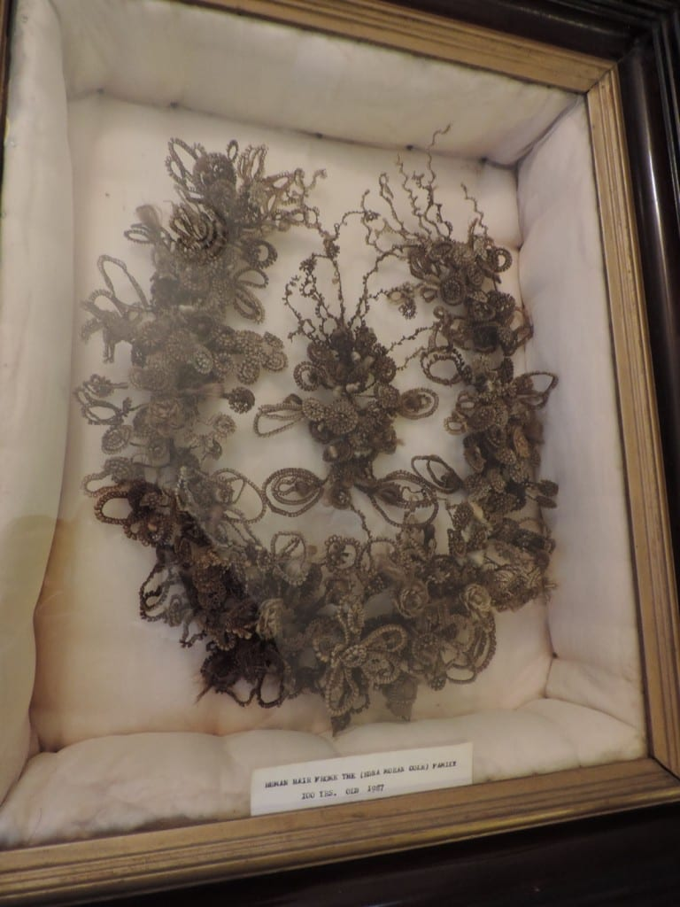 Edna Moran Cole's Family Hair Wreath from 1887.