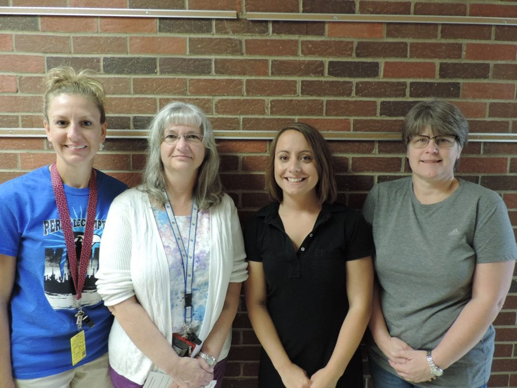 Amazing 4th Grade teachers: Lisa Surface, Sandy Gantz, and Nettie Johnson. Angie Hess (far right) and William Gantz (not pictured) helped with making videos and the technology details.