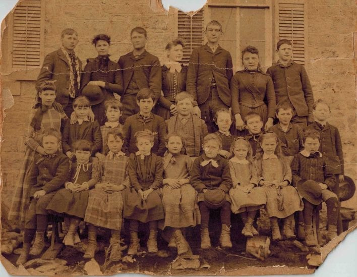 Glenn School District 33, Lecompton Township, circa 1890