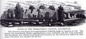 Lecompton, capitol, capital, Territorial Capital Museum, Lane University