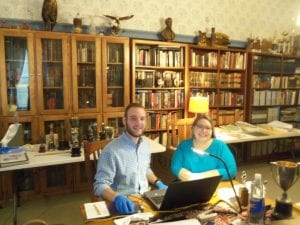 Kristie Dobbins, Andrew Gustafson, kansas humanities council, artifacts, inventory, Lecompton, Lecompton high school, douglas county rural schools, grants