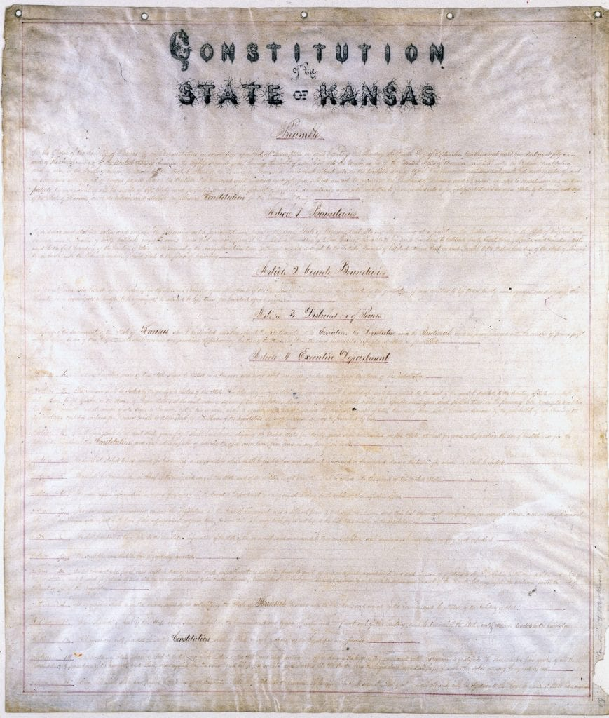 Lecompton Constitution, Constitution Hall, Lecompton, Territorial Capital , Kansas, 1857