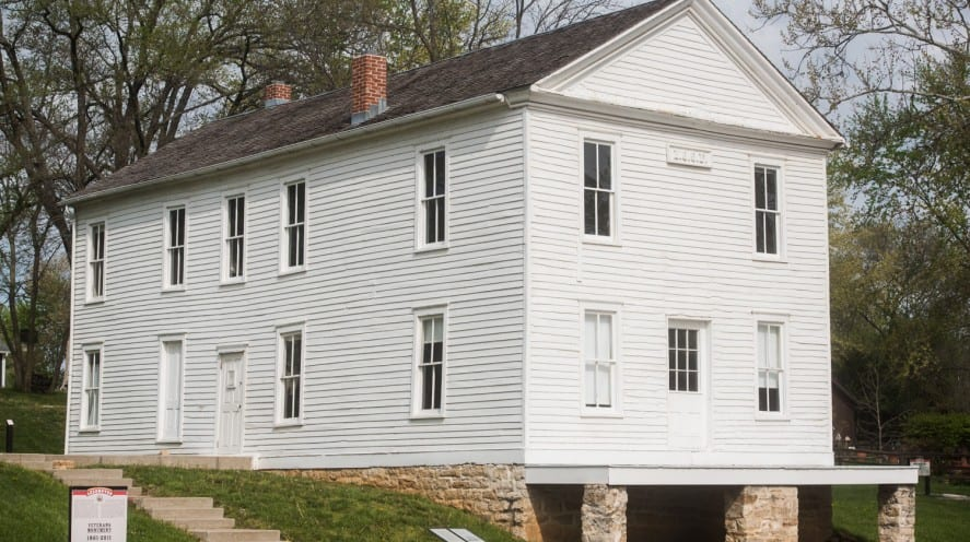 Lecompton Constitution, Lecompton, Bleeding Kansas, National Landmark, KSHS, oldest building in Kansas, Kansas history,