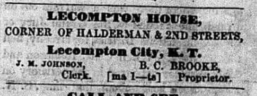 Lecompton Union April 28, 1856