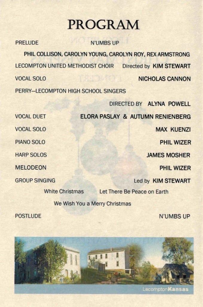 Vespers program 2015