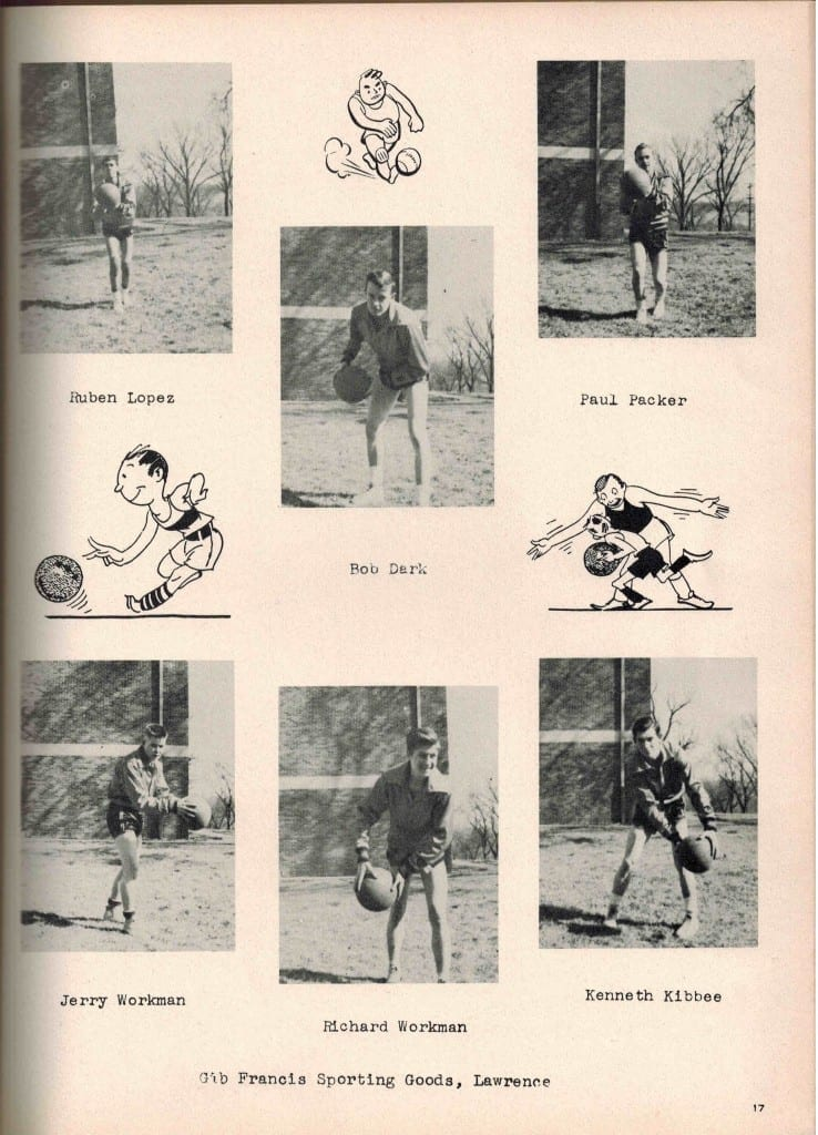 1951 Basketball team, page from yearbook