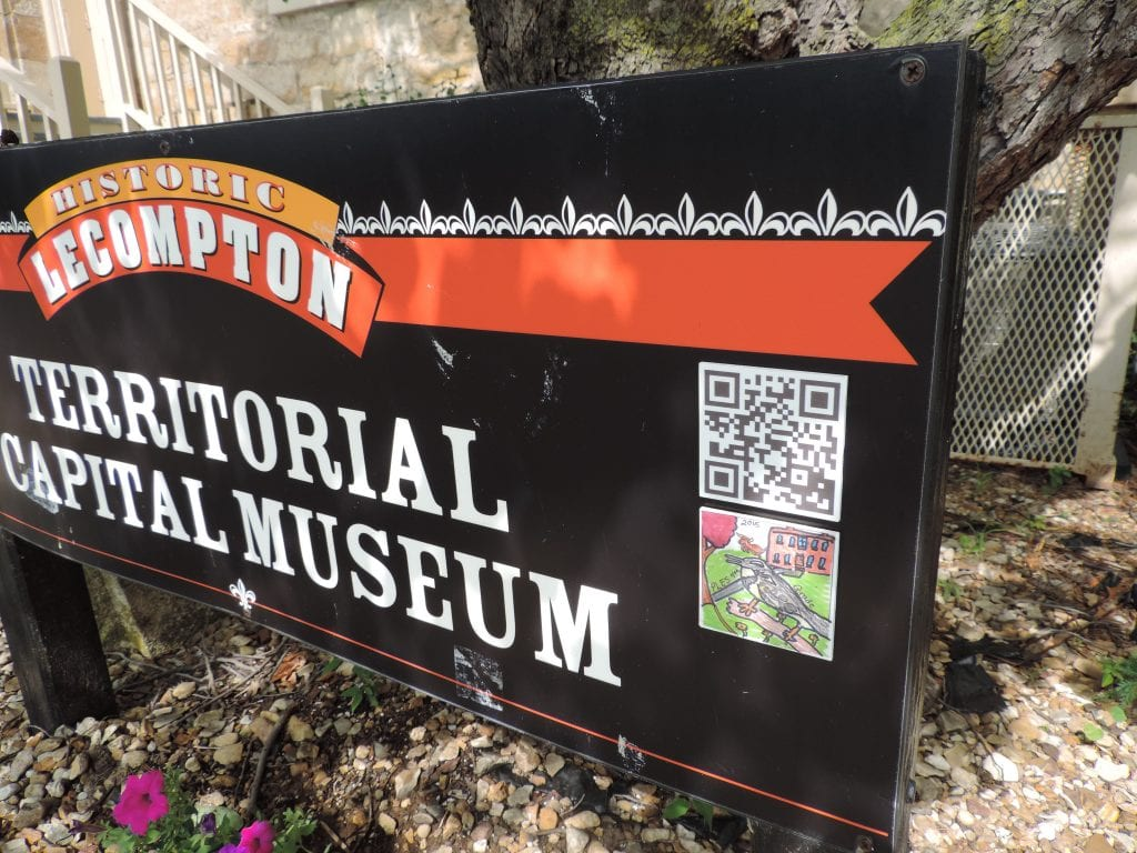 Finished project: a QR code next to the historic sites in Lecompton takes visitors to a video about the site.