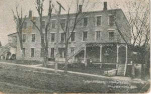 Rowena Hotel, Territorial legislature, Lecompton Kansas Territory, Lecompton, Lane University