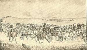 Gen. Lane Escorting the Legislature to Lecompton, Jim Lane, Lecompton, Lecompton Constitution